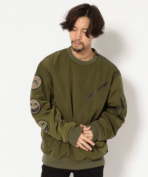 【Safari 10月号掲載商品】AVIREX×roar/別注 TYPE MA-1 CREW NECK WAPPEN CUSTOM