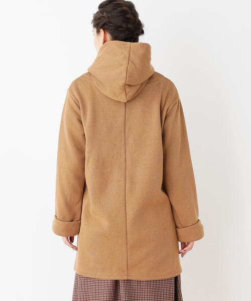 ヘリンボーンフーデッドジャケット