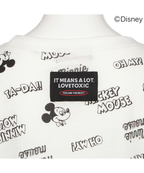 【DISNEY】ミッキーデザイン ロゴ ビッグTシャツ