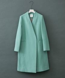UNITED TOKYO WOMENS(ユナイテッドトウキョウウィメンズ)の「Vネックノーカラーコート(ノーカラーコート)」