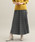 ViS(ビス)の「【WEB限定】ジャガードプリーツスカート(スカート)」|ブラック系その他