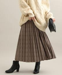 ViS(ビス)の【WEB限定】ジャガードプリーツスカート(スカート)
