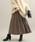 ViS(ビス)の「【WEB限定】ジャガードプリーツスカート(スカート)」|ブラウン