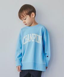 【キッズ】〔別注〕CHAMPION(チャンピオン)ロゴ スウェット