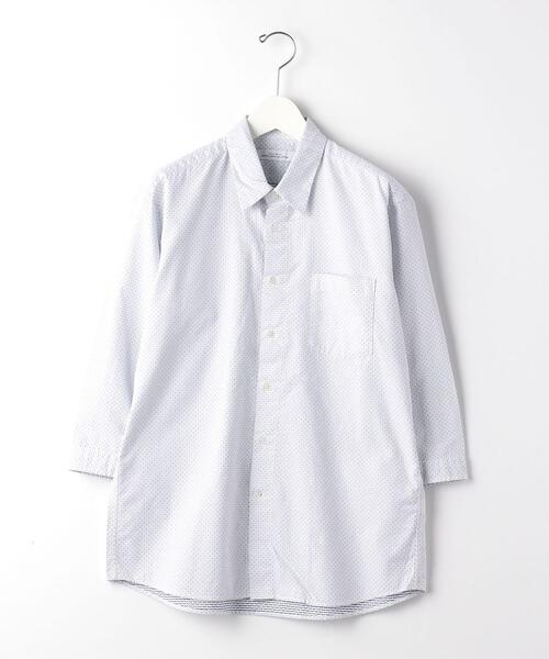 CSM 刺し子 ドット ナロー 7分袖 シャツ