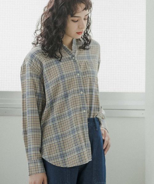 niko and...(ニコアンド)の「40ビエラベーシックシャツ(シャツ/ブラウス)」|クリーム