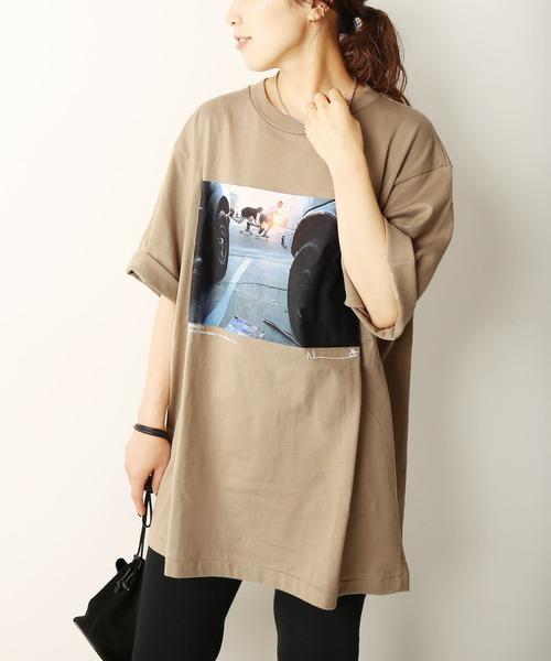 Plage(プラージュ)の「【JANE SMITH/ジェーンスミス】SP BLONDEY M Tシャツ◆(Tシャツ/カットソー)」 ベージュ