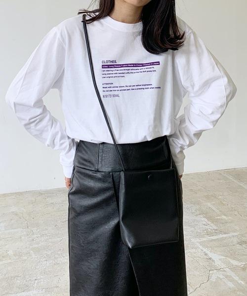 Lian(リアン)の「カラーロゴプリントロンT(Tシャツ/カットソー)」|パープル