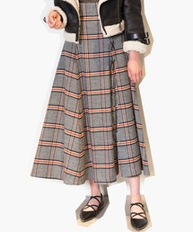 852746cec1f6 SNIDEL(スナイデル)の「チェックスリットロングスカート(スカート)」