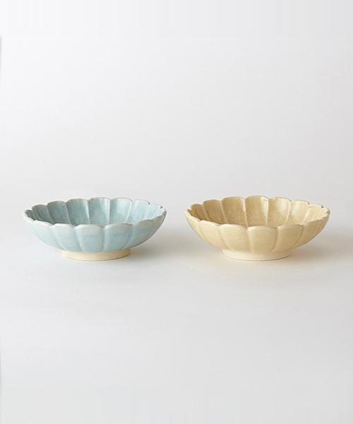CULTURE BY DESIGN(カルチャーバイデザイン)の「HANAEMI MORIBACHI MIZU×SUNA 2pcs / 花笑み盛鉢 水色×砂色ペアセット(食器)」|その他