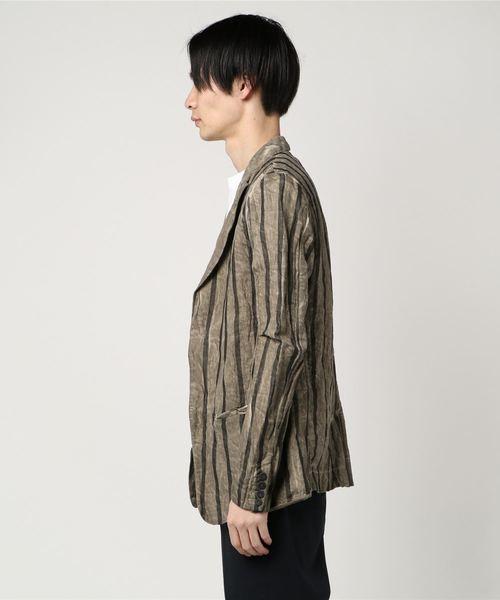 TRANSIT PAR-SUCH/トランジット パーサッチ/linen stripe jacket