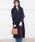 PICCIN(ピッチン)の「【日本製】ラグランスリーブオーバーサイズコート(ステンカラーコート)」|ネイビー