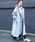 PICCIN(ピッチン)の「【日本製】ラグランスリーブオーバーサイズコート(ステンカラーコート)」|サックスブルー