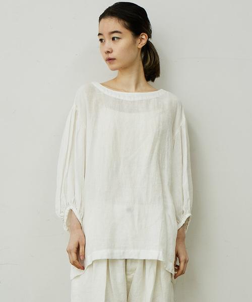 ikkuna / suzuki takayuki(イクナスズキタカユキ)の「puff-sleeve pull-over/パフスリーブプルオーバー(シャツ/ブラウス)」|詳細画像