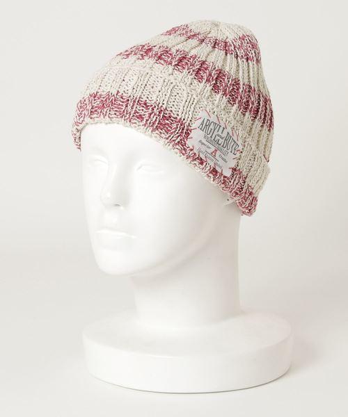 ∴COTTON BIG-STRIPES 2×2 KNIT HAT ボーダーニット帽