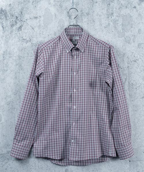【しゃれシャツ】ショートボタンダウン 長袖カジュアルシャツ