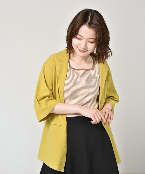 リネンライクシャツジャケット