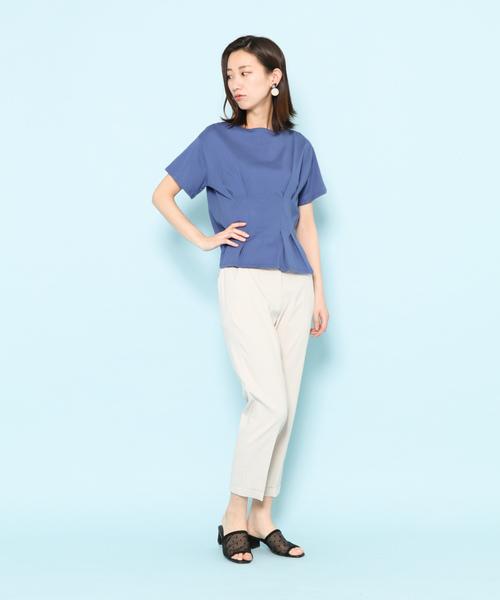 オーガニックコットンウエストマークTシャツ(半袖)