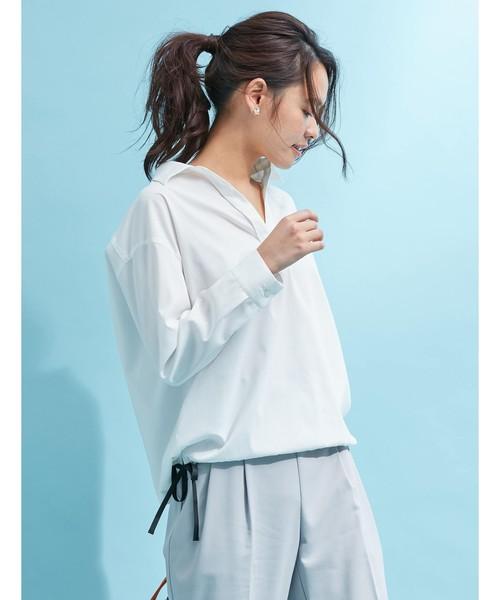 FABIA(ファビア)の「ドライミックススキッパーシャツ(シャツ/ブラウス)」 オフホワイト