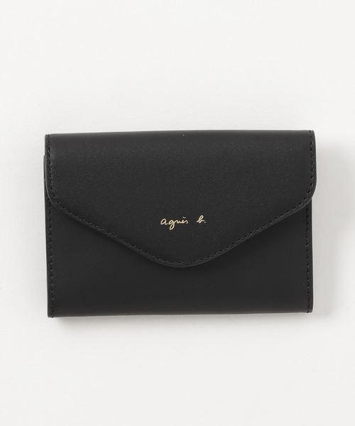 agnes b.(アニエスベー)の「KW01-04 カードケース(カードケース)」|ブラック