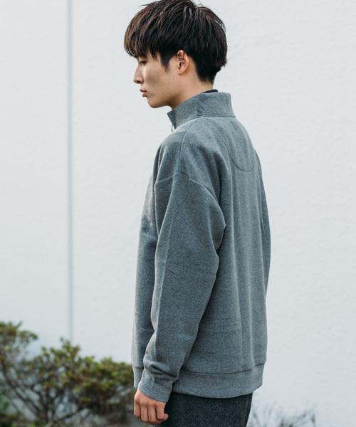 GGD edition / パイル裏起毛ハーフZIP