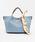 styiro(スタイロ)の「スカーフ・ポーチ付き2WAYトートバッグ/Sサイズ(トートバッグ)」|サックスブルー