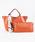 styiro(スタイロ)の「スカーフ・ポーチ付き2WAYトートバッグ/Sサイズ(トートバッグ)」|オレンジ