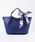 styiro(スタイロ)の「スカーフ・ポーチ付き2WAYトートバッグ/Sサイズ(トートバッグ)」|ブルー