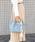 styiro(スタイロ)の「スカーフ・ポーチ付き2WAYトートバッグ/Sサイズ(トートバッグ)」|ライトブルー