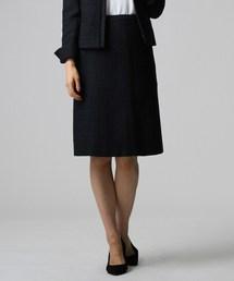 UNTITLED(アンタイトル)のソフィアツイードマーメイドシルエットスカート【入卒】(スカート)