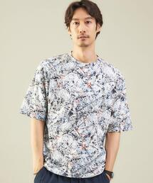 <green label relaxing> ジャクソンポロック Tee �T Tシャツ