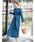 GeeRA(ジーラ)の「リボンデザインデニムワンピース(ワンピース)」|詳細画像