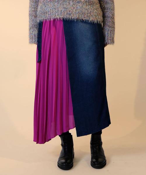 大好き サイドプリーツ デニムラップ風スカート(スカート) Luxe|doll up Doll/ up oops(ドールアップウップス)のファッション通販, ハシマシ:9ae7d506 --- 888tattoo.eu.org