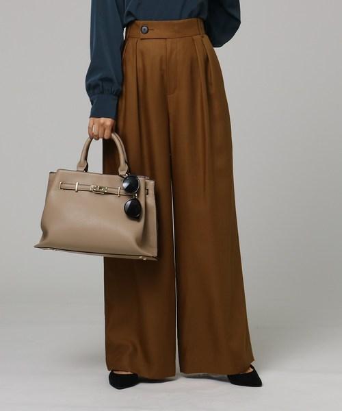 【18%OFF】 【洗える】ポリウールビエラタックワイドパンツ(パンツ) UNTITLED(アンタイトル)のファッション通販, 栄進堂:e80457ef --- pyme.pe