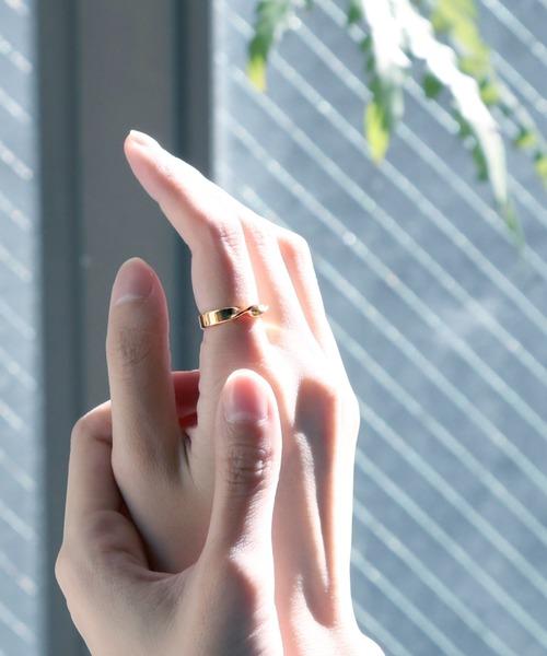【YArKA/ヤーカ】silver925 1twist 4mm ring[1-2-1]/ひねり4mmリング シルバー925