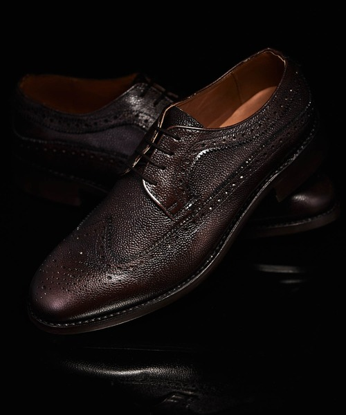 London Shoe Make Oxford and Derby  / 外羽根 フルブローグ ウィングチップ ドレスシューズ ·グッドイヤーウエルト製法· 8011