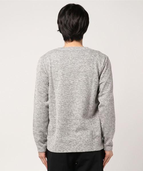 セマンティックデザイン / semantic design MADE IN JAPAN ブリッツインレイVネック長袖Tシャツ