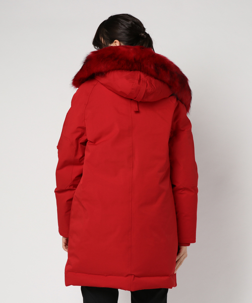 Tech Nylon Fur Trim Parka
