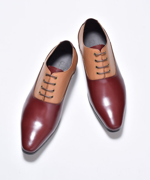 【50%OFF】 LUCIUS / ルシウス 本革 Leather Saddle Shoes レザー サドルシューズ, ナワチョウ 2b8becf2