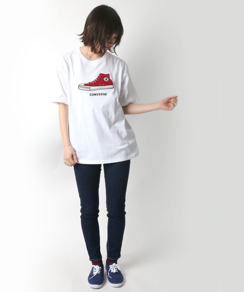 CONVERSE/コンバース スニーカーサガラ刺繍Tシャツ