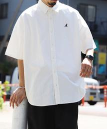 KANGOL(カンゴール)のWEB限定 KANGOL×FREAK'S STORE/カンゴール 別注ビッグシルエット 半袖 ツイルシャツ/オーバーサイズ(シャツ/ブラウス)