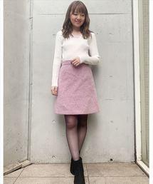 LAISSE PASSE(レッセパッセ)のSweets Color Knit フラワー刺繍リブニット(ニット/セーター)