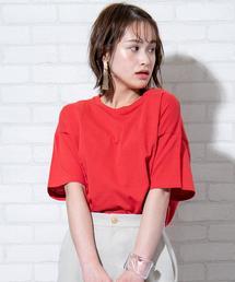 梨地サイドタックTシャツ
