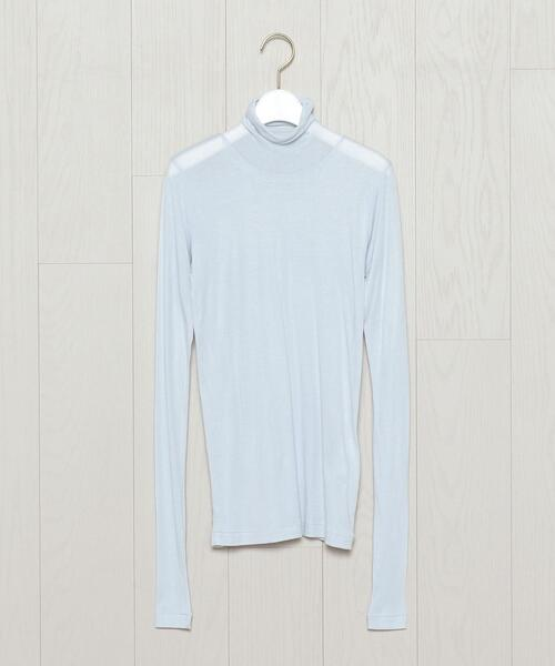 <AURALEE>SHEER TURTLE NECK PULLOVER/カットソー.