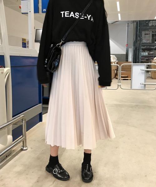yuue' ( wear )(ユーイ)の「<2021年春夏新作> ウェストストレッチ ロングプリーツスカート(スカート)」|アイボリー