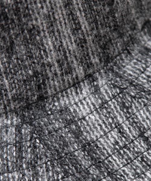 14+(イチヨンプラス)の「シンプル無地サーモ糸アンゴラ混つば広中折れハット(ハット)」 詳細画像