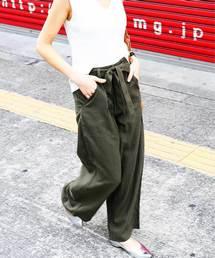 Fashion Letter(ファッションレター)のウエストリボン付き ワイドパンツ(パンツ)