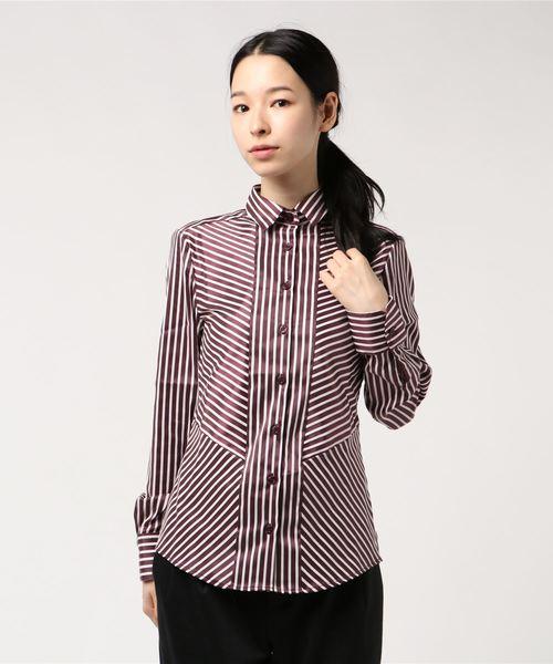 【代引可】 【セール】ミラノストライプ切り替えシャツ(シャツ/ブラウス)|NARACAMICIE(ナラカミーチェ)のファッション通販, 苫前町:c2ab09d8 --- rise-of-the-knights.de