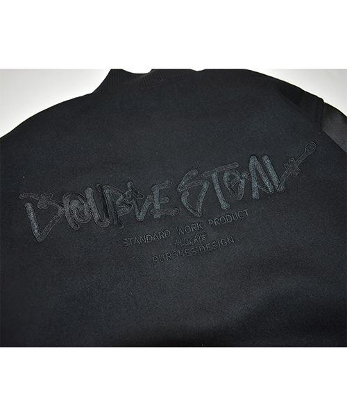 DOUBLE STEAL(ダブルスティール)の「Melton Stadium Jacket(スタジャン)」|詳細画像