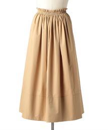 Drawer コットンツイルギャザースカート